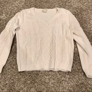 Sparkly white knit sweater